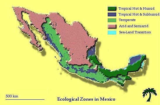 Ecological Zoning In Mexico - Mexico climate map